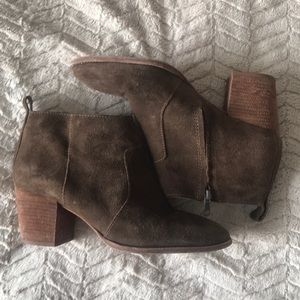 Madewell brown suede booties Sz 9.5 orig $120